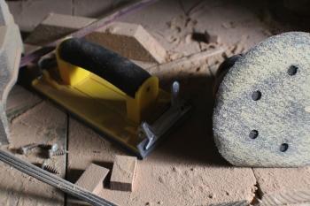 Various sanding tools.