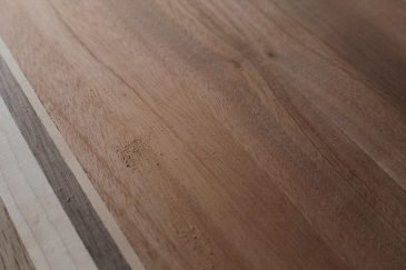 Close-up of sanded hardwood.