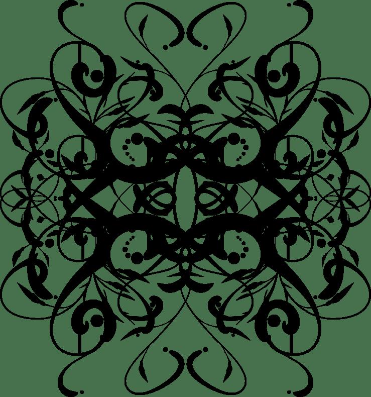 Random icon for page decoration; solid black